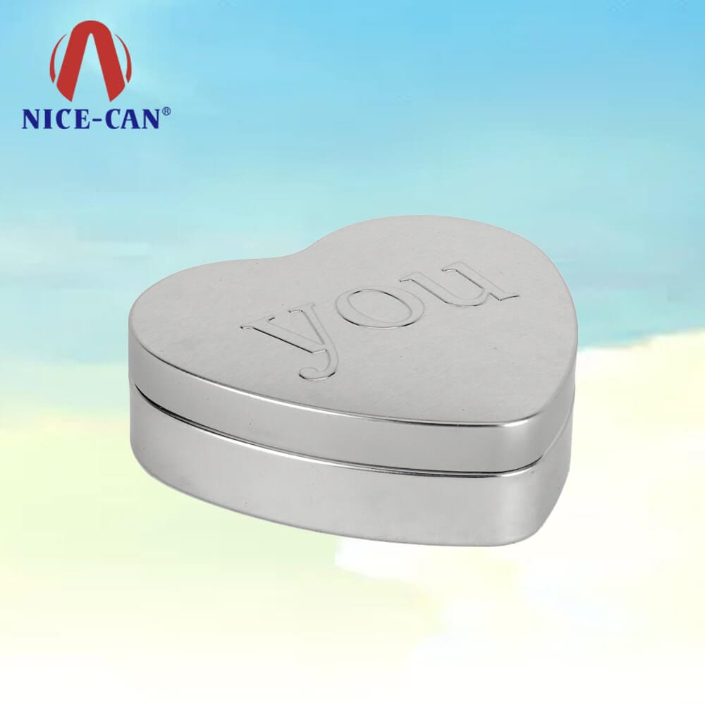 Heart shaped tin package box tin containers large heart shaped tin box