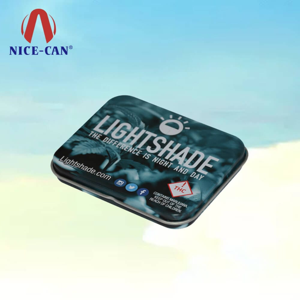 Rectangle candy mint tins manufacturers metal candy box tin packaging
