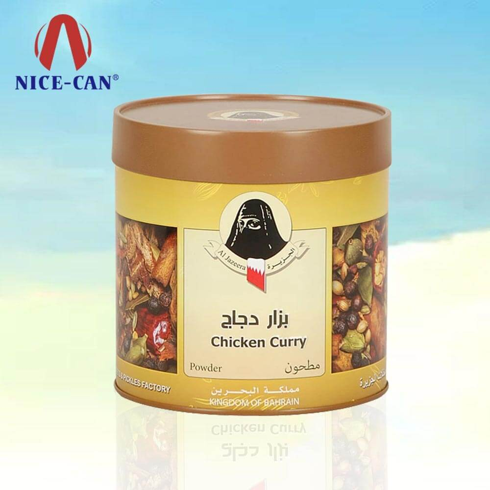 Spice storage tin with lid kitchen spice tins packaging design spices tin jars