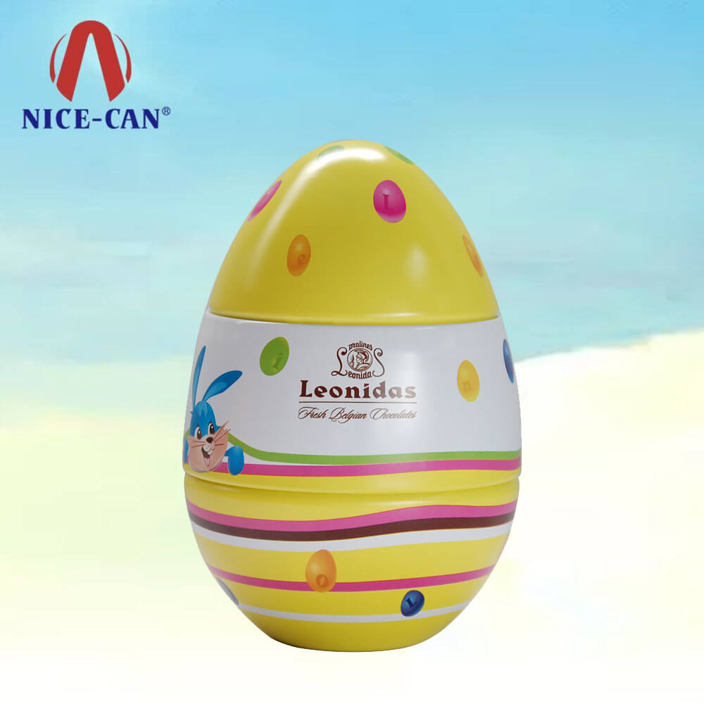 Cute printed Easter egg cake tin packaging