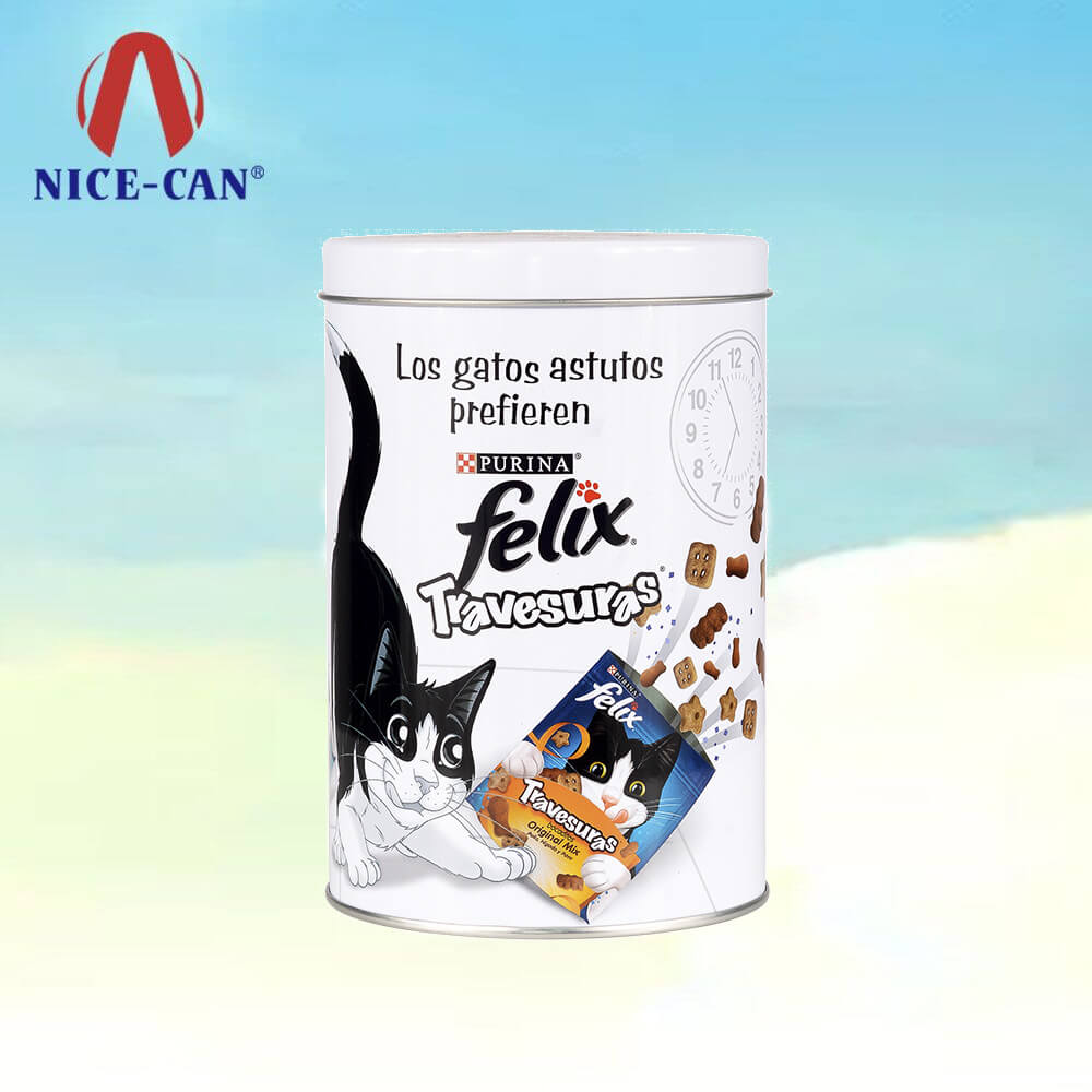 Customized pet biscuit food tin packaging cans storage