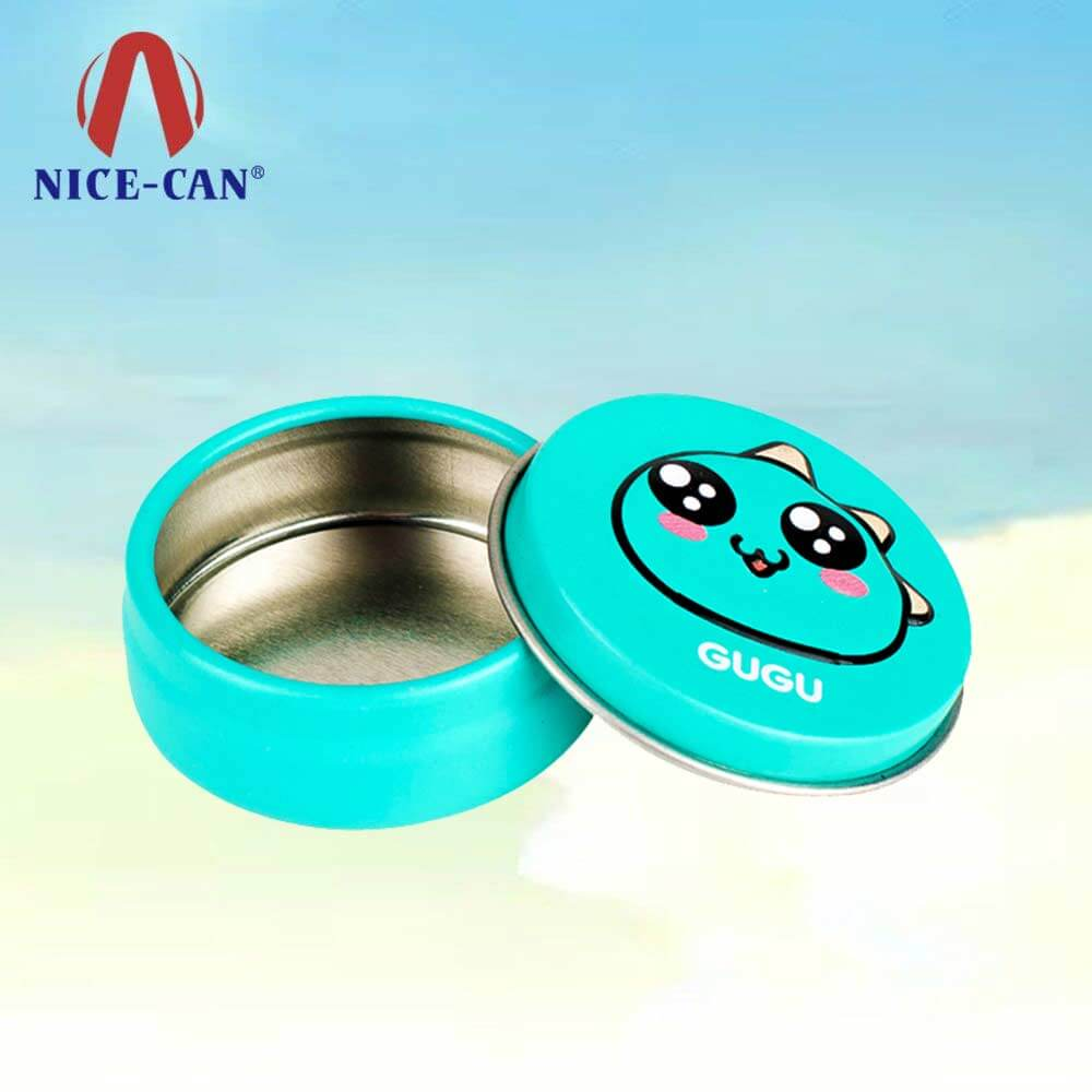 Cosmetic aluminum round lip balm tins tin lip balm containers metal can