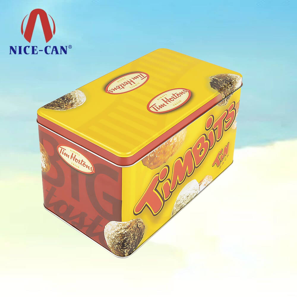 Recycable Material Square Tin Boxes Cans Metal Packaging for Cookie Biscuits