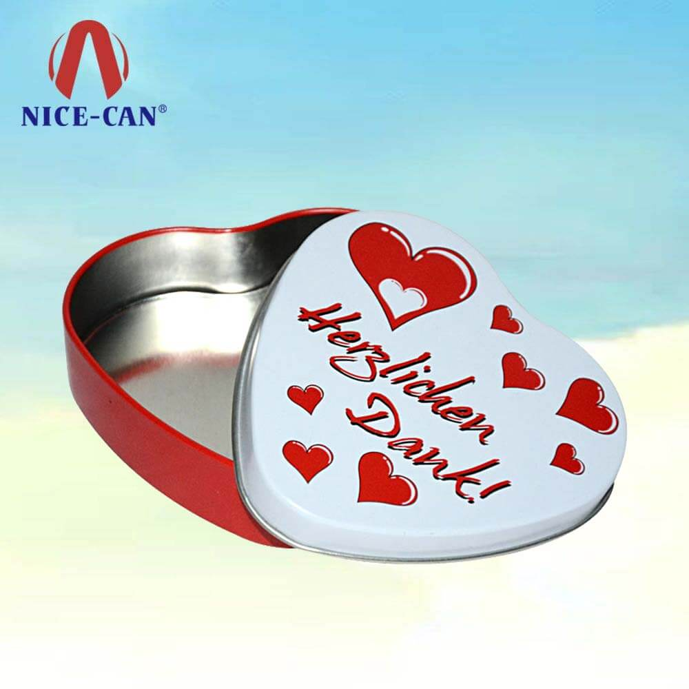 Metal tin gift box heart shaped cake tin gift boxes manufactures heart tin box