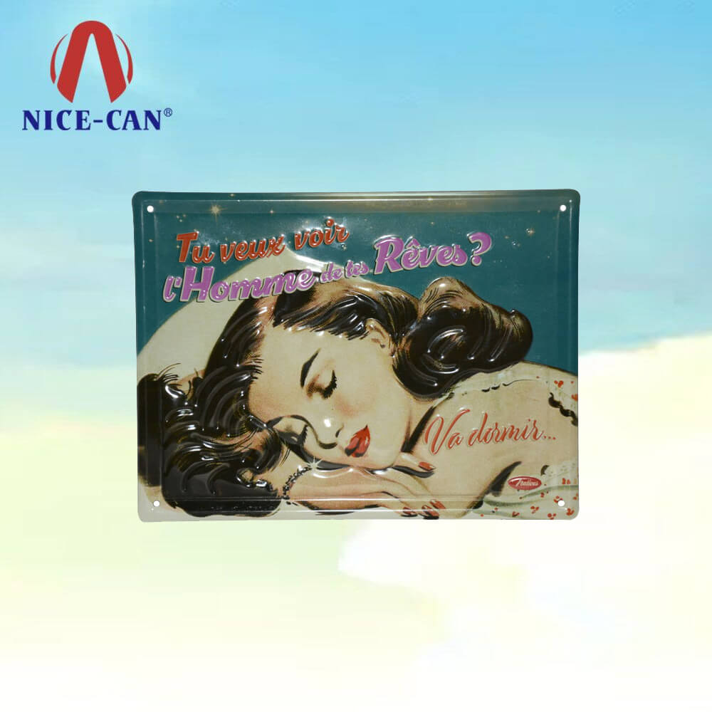 Sexy Women Wall Art Decor Decorative Bar Vintage Metal Tin Sign