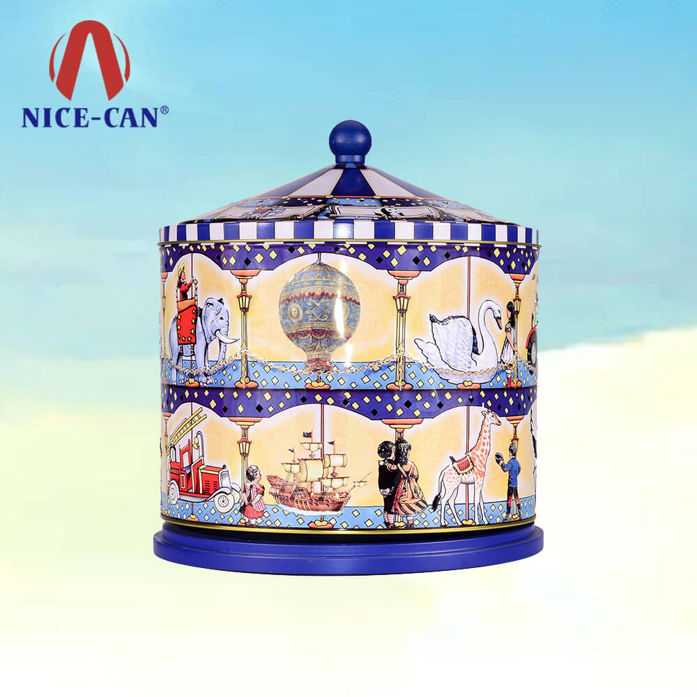 Musical Box Shaped Jewelry Necklace Packing Container Tin Boxes