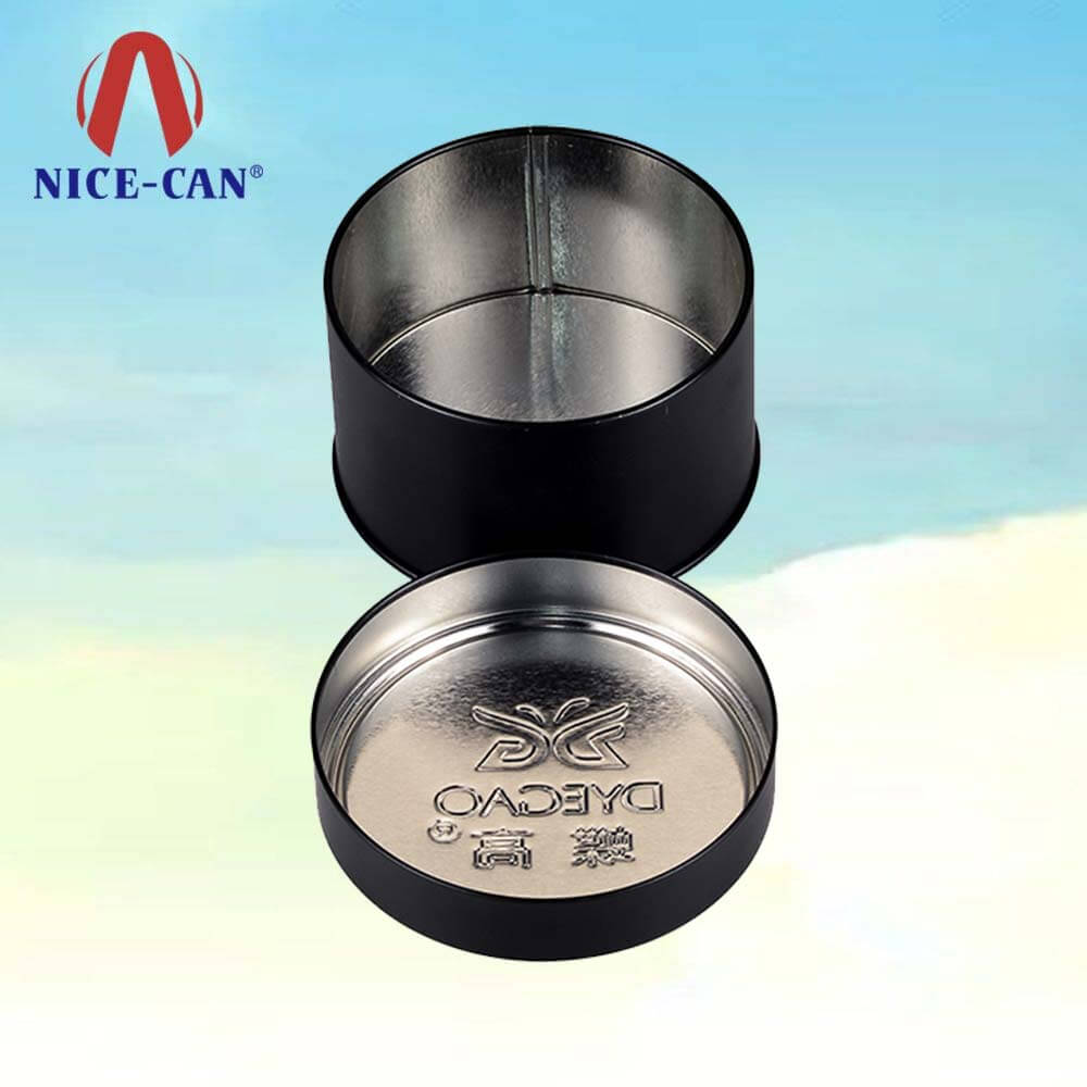 Black candle tins suppliers tinplate wholesale black tin candle containers