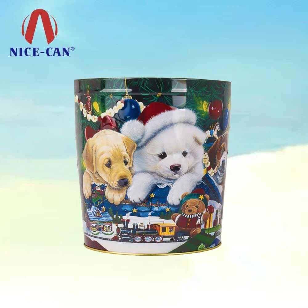 Christmas empty popcorn tin cans large popcorn gift tins popcorn tin can