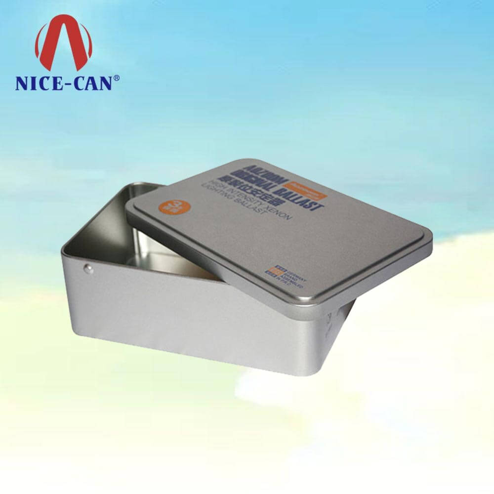 Rectangular storage tin box metal tins medical packaging empty tin containers
